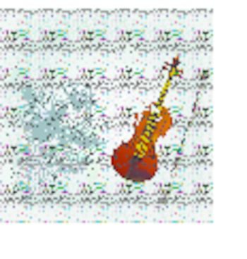 Abstract grunge background with the an old violin