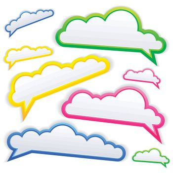 colorful speech bubble on white background