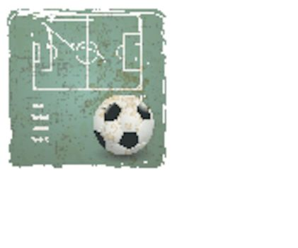 soccer strategy tactic on grunge background