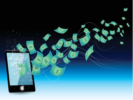 Conceptual image - earnings in the Internet phone