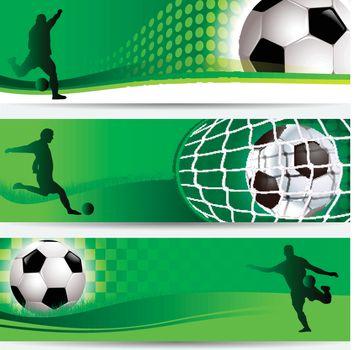 national champions soccer tournament banner set