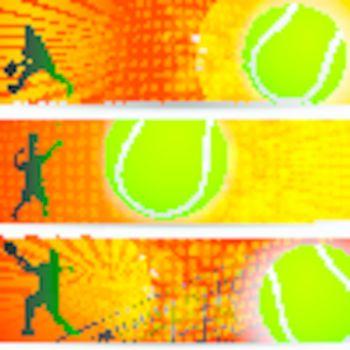 tennis championship summer slam banner set