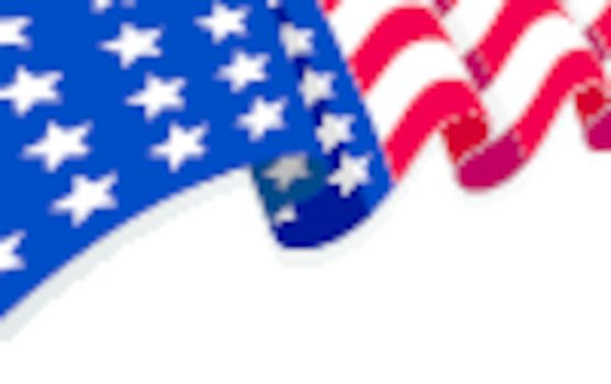the flag of the United States of America with copy space