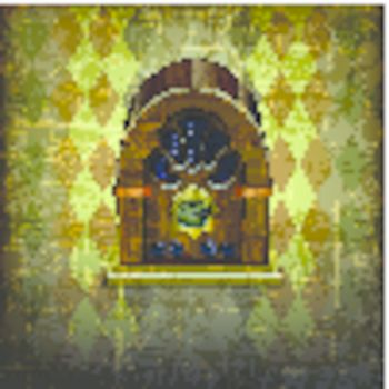 vintage radio on Abstract grunge background