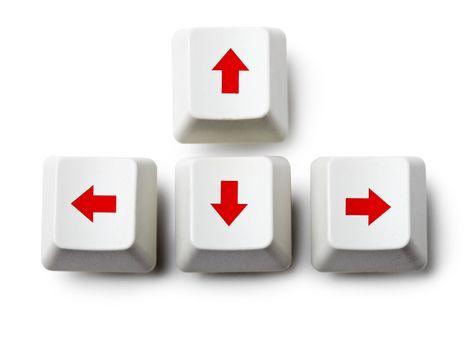 Cursor arrow keys on white