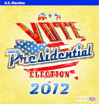 vintage US presidential 2012 election sign or poster