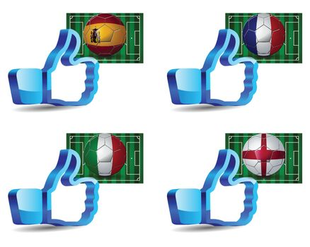 Click like Icon Ball Europe soccer you re like the team