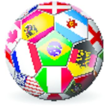 football soccer with world teams flags brazil world cup 2014