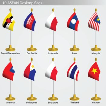 ASEAN Table flags, flags of ASEAN collection set