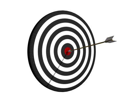 Dartboard with arrow