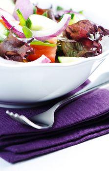Salad on  napkin
