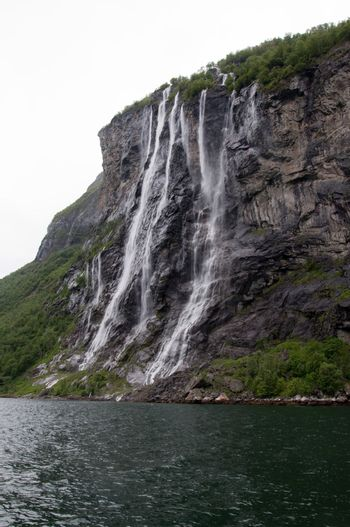 Seven Sisters waterfall in Geiranger