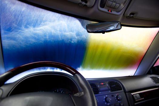 Car Wash Abstract
