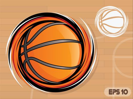 Spinning Basketball Icon/Basketball Team Mascot