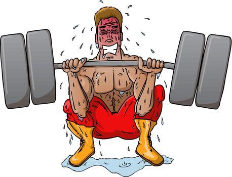 Struggling Weight Lifter