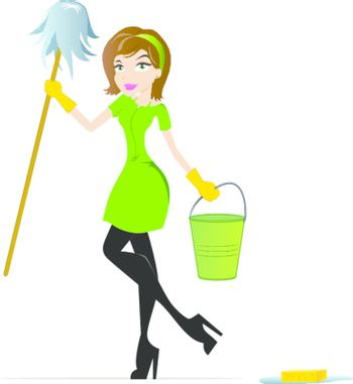 Maid Character Mascot