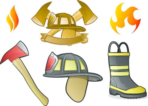 Firefighter Icons/Fire Symbols