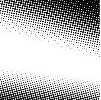 A black and white halftone background with plenty of copy space in vector format.