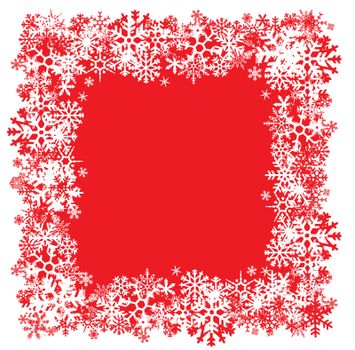 A snowflakes border texture that can be used as a border or edge on your design.  All of the flakes in this vector are fully editable.