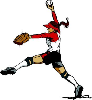 Fast Pitch Softball Pitcher Vector Illustration