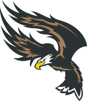 Flying Eagle Wings Mascot Design