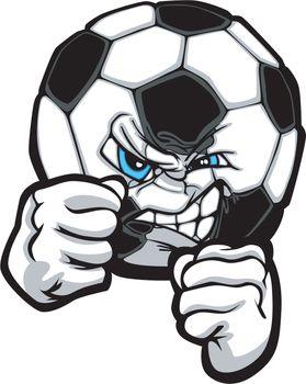 Fighting Soccer Ball Vector Illustration