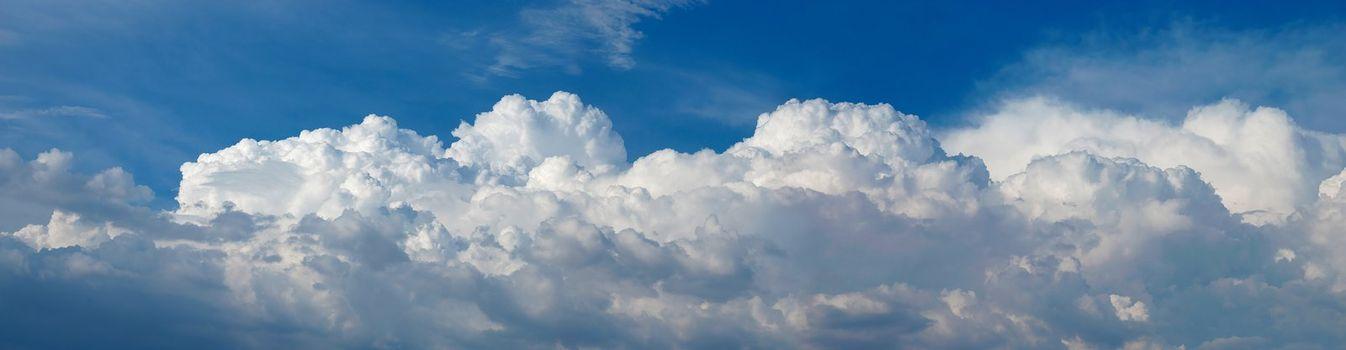 Panorama of Cumulus Clouds