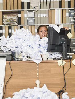 Overloaded Businesswoman