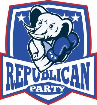 Republican Elephant Mascot Boxer Shield