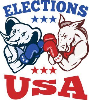 Democrat Donkey Republican Elephant Mascot USA