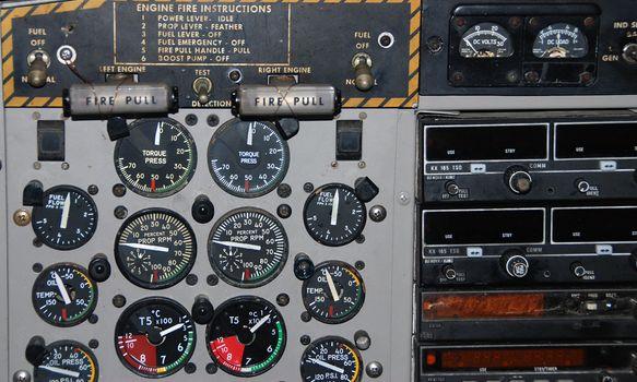 Airplaine cockpit