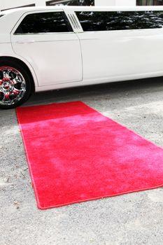 Limousine and red carpet Limousine and red carpet