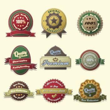vintage style Badges and labels design set