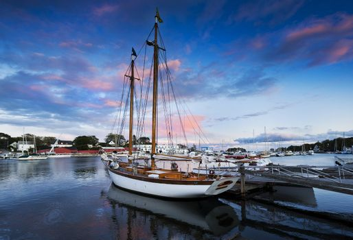 Harbor at dusk
