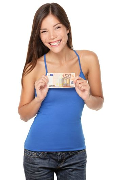 Euro bill woman