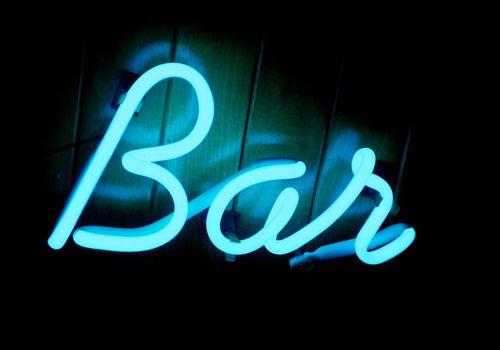 Lit Neon Bar Sign