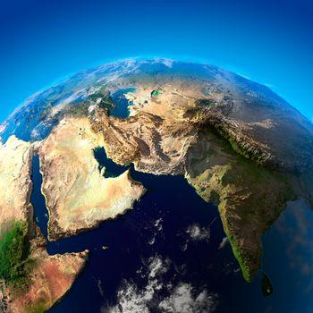 Beautiful Earth - Arabian Peninsula and India from space