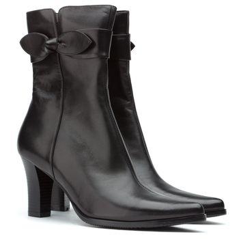 Ladies short black boots