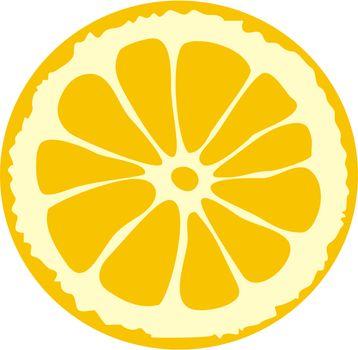 piece of the cutting lemon