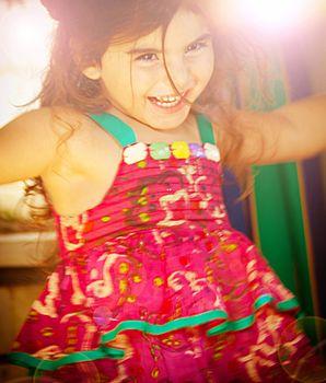 Three-year birthday girl