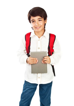 Happy schoolboy