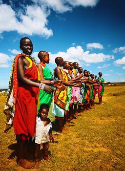 African men dancing