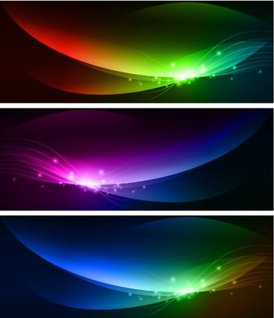 Multicolored Bright Web Banner Collection
