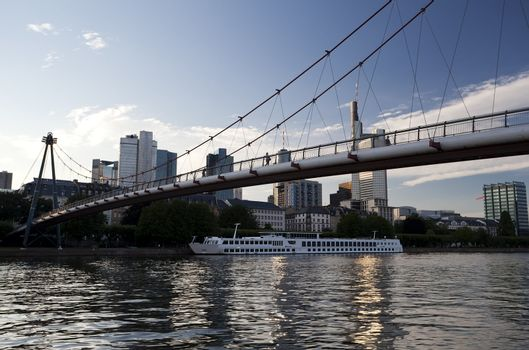 bridge in Frankfurt am Main city