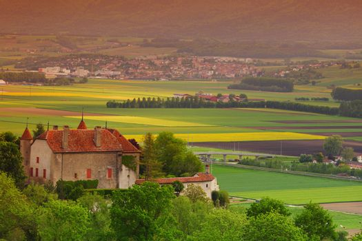 germany lanscape castle and fields