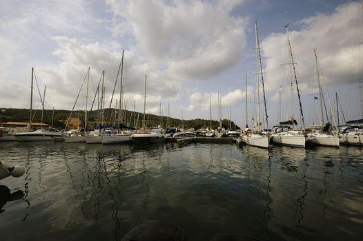 A touristic marina in along the tuscan coast