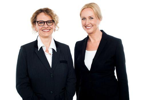 Senior businesswomen standing