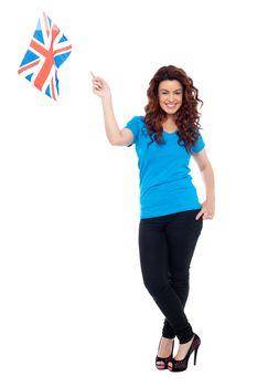Stylish portrait of female UK supporter