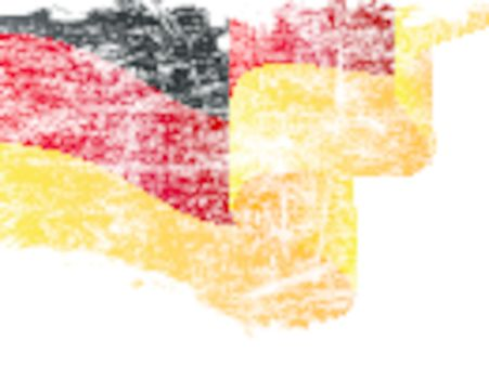 Isolated grunge German flag with copy space