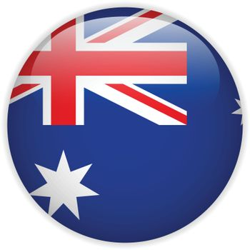 Vector - Australia Flag Glossy Button